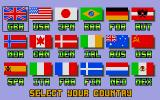Winter Challenge: World Class Competition Atari ST Select your country