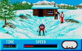 Winter Challenge: World Class Competition Atari ST Downhill skiing start