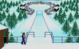 Winter Challenge: World Class Competition Atari ST Ready to go in the ski Jump