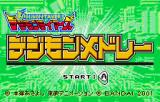 Digimon Tamers: Digimon Medley WonderSwan Color Title screen
