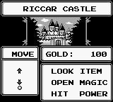 Sword of Hope II Game Boy The castle of Ricca, where the game begins