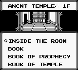 Sword of Hope II Game Boy Reading some books in a library