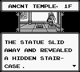 Sword of Hope II Game Boy Discovering a hidden passage