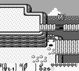 The Legend of Zelda: Link's Awakening Game Boy Using the feather to jump over a hole in the bridge