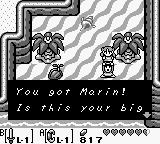 The Legend of Zelda: Link's Awakening Game Boy Link got Marin!