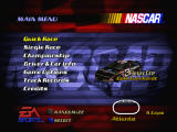 NASCAR 2000 Nintendo 64 Menu screen.