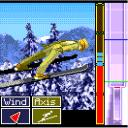 I.F. Ski Jumping ExEn When in the air, keep a good balance by pressing left and right. The goal is to have the small icon on the bottom of the screen as green as possible.