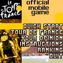 Tour De France ExEn Game menu, you can select 2 game mode, the quick start and the real Tour de France where you will do all the races one after another.