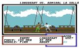 Sid Meier's Pirates! Commodore 64 Fencing with an enemy captain after boarding his ship