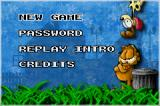 Garfield: The Search for Pooky Game Boy Advance Main Menu