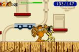 Garfield: The Search for Pooky Game Boy Advance Fight against Eddie