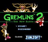 Gremlins 2: The New Batch NES US Title screen