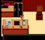 Gremlins 2: The New Batch NES Level 3: Gizmo makes his way through a kitchen.