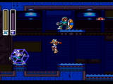 Mega Man X Collection GameCube Mega Man X2 - Using Crystal Shot in Wheel Gator Stage