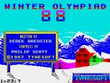 Winter Challenge: World Class Competition ZX Spectrum Loading screen