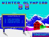 Winter Challenge: World Class Competition ZX Spectrum Control options