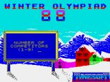 Winter Challenge: World Class Competition ZX Spectrum Players take it in turns