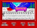 Winter Challenge: World Class Competition ZX Spectrum The Biathlon start