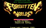 Forgotten Worlds DOS The Main Menu (the PC version was made two years later than the others)