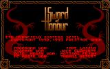 Sword of Honour DOS The Credits
