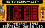 Stack Up DOS Main menu