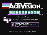 Mindshadow PC Booter Title screen (CGA with composite monitor)