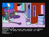 Mindshadow PC Booter Exploring a small town (CGA with composite monitor)