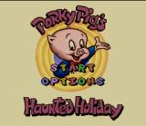 Porky Pig's Haunted Holiday SNES Title screen
