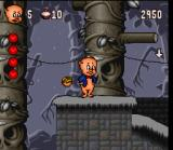 Porky Pig's Haunted Holiday SNES By picking up a basket of fruit, Porky will have unlimited ammo to throw at this enemies