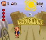 Porky Pig's Haunted Holiday SNES Dry Gulch Town