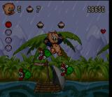 Porky Pig's Haunted Holiday SNES On the raft, watch out for vultures and piranhas