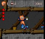 Porky Pig's Haunted Holiday SNES Man those rats are huge!
