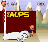 Porky Pig's Haunted Holiday SNES The Alps