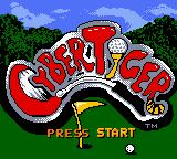 CyberTiger Game Boy Color Title screen.