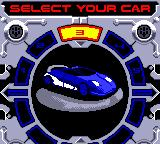 San Francisco Rush 2049 Game Boy Color Choosing a vehicle.