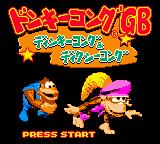 Donkey Kong Land III Game Boy Color The Title Screen - in colour!