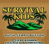 Survival Kids Game Boy Color Title screen