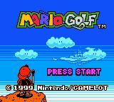 Mario Golf  Game Boy Color Title screen.