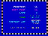 Speed King 2 ZX Spectrum Race-end statistics