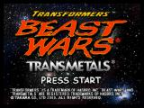 Transformers: Beast Wars Transmetals Nintendo 64 Title screen.