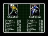Transformers: Beast Wars Transmetals Nintendo 64 The VS screen shows a simple status evaluation of both fighters.