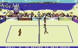 Kings of the Beach Commodore 64 Training with a teammate against one opponent