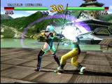 SoulCalibur Dreamcast Ivy brings her sword up over her head to crash down on his