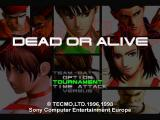 Dead or Alive PlayStation Main menu