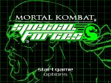 Mortal Kombat: Special Forces PlayStation Title screen / Main menu.