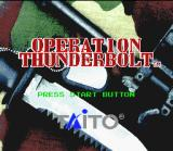 Operation Thunderbolt SNES Title screen.