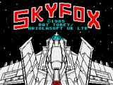 Skyfox ZX Spectrum Title screen