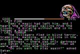I, Damiano: The Wizard of Partestrada Apple II Game over; guess I shouldn't have cast all those spells