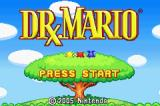Dr. Mario & Puzzle League Game Boy Advance Dr. Mario title screen.