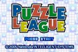 Dr. Mario & Puzzle League Game Boy Advance Puzzle League title screen.